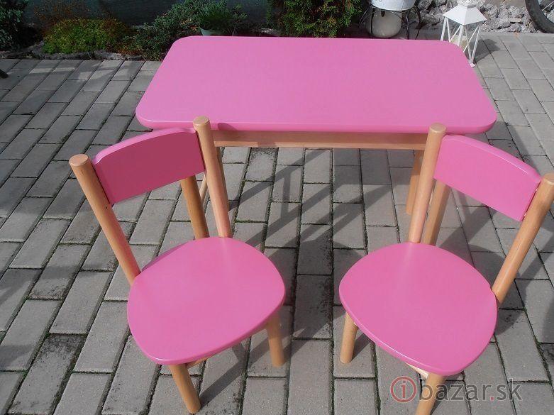 d45b4ed5d13e Detský stolíks dvoma stoličkami-buk masív